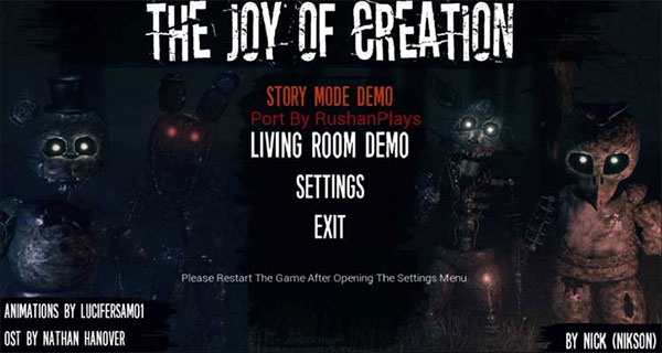 The Joy of Creation Reborn on PC Download